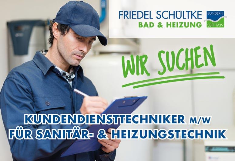 Jobangebot, Kundendiensttechniker, Sanitär und Heizung