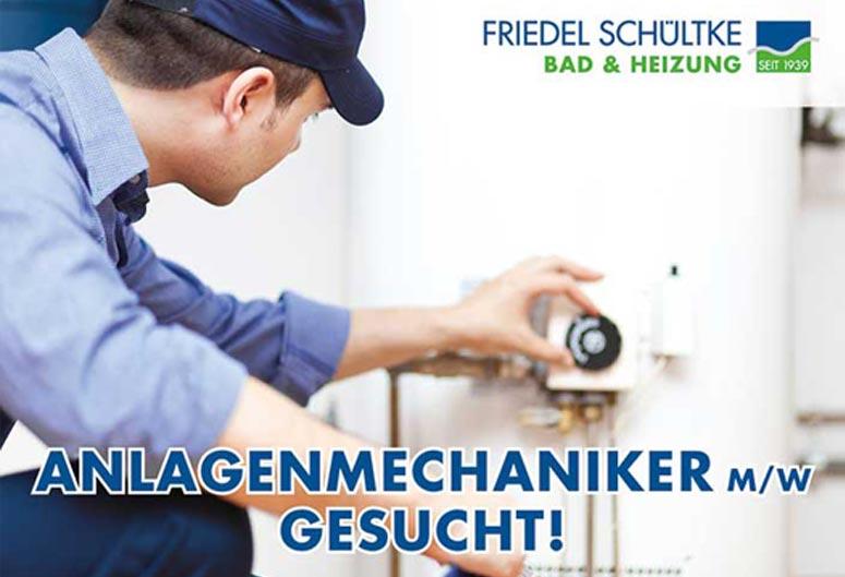 Anlagenmechaniker gesucht, Friedel Schültke Bad und Heizung GmbH, Heizung